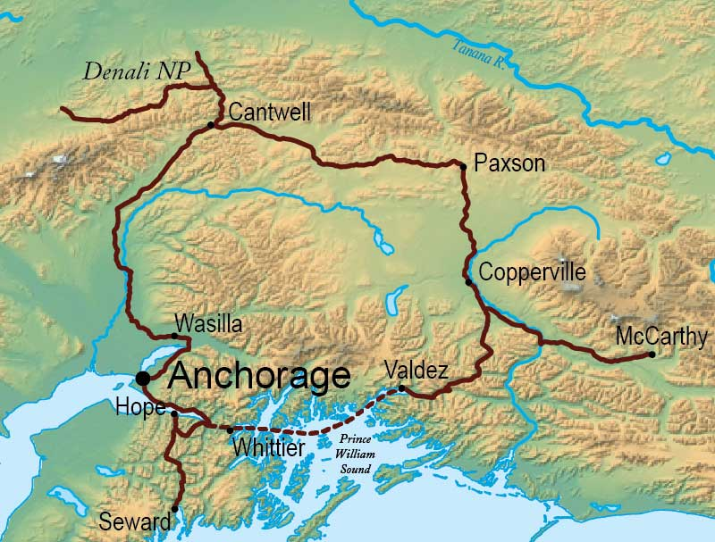 Alaska & Yukon Explorer Tour Map