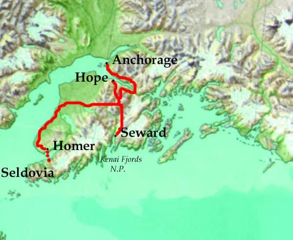 Kenai Explorer Tour Map