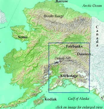Alaska Wild Adventure Tour Map
