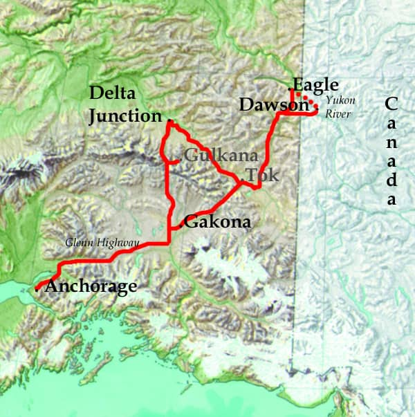 Yukon Canoe Route Map